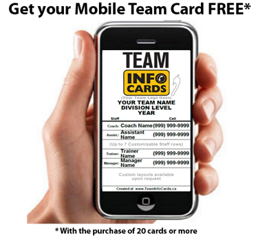 Sample TeamInfoCard