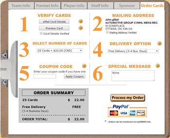 Order Cards Tab